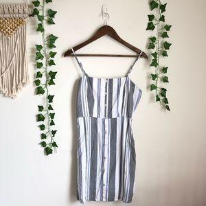 Forever 21 Blue Striped Mini Dress